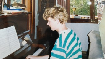 Martin playing piano age 16